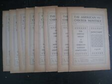 The American Checker Monthly : Vol.VI Nos.1 Thru 12 [1926 Complete] Soft Cover