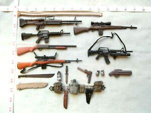 1/6 Scale Custom Vietnam Special Weapons guns Rifles Pistol Knife Machete.