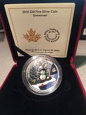 2014 CANADA $20 fine silver coin VENETIAN MURANO GLASS - SNOWMAN