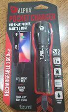 Tzumi Alpha Pocket Charger Weather Proof Led Flashlight & Portable Device 200