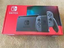 Nintendo Switch V2 Console with Gray Joy-Con Brand New Grey IN HAND SHIPS NOW!