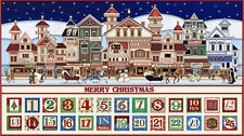 .6 Yard Cotton Fabric - QT Fabrics Santa Claus is Coming to Town Advent Calendar