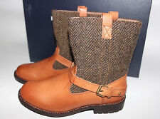 NIB RALPH LAUREN Size 2.5 Girls Herringbone Wool/Leather SUPER CROSS Low Boot