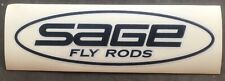 """SAGE FLY RODS 8"""" Oval Car/Boat Decal Sticker Black"""