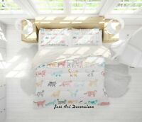 3D Colorful Cat Pattern Duvet Cover Comforter Cover Single/Queen 62