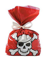 Pack of 12 - Pirate Cellophane Party Bags
