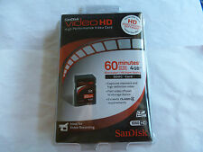 I pc (New)4Gb Sandisk Video Hd Sdhc Card *Ideal for video recording 1080 Hd*