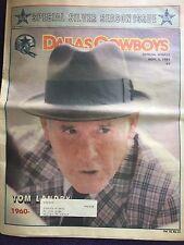 """ NFL Dallas Cowboys Official Weekly Magazine November, 3, 1984; Vol. 10, No.21"