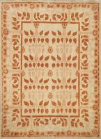 Contemporary Gabbeh Oriental Area Rug Wool Hand-knotted Modern Ivory Carpet 6x7