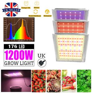 1200W LED Grow Light Sunlike Veg Bloom Full Spectrum Veg Flower Indoor Plant UK