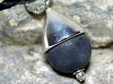 Onyx matt Anhänger Kette Sheltered Bowl Schwarz Silber