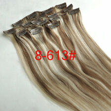 14''18''20''22''24''26'' Clip in Remy Extensions 100% Human Hair Full Head