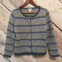 Cambridge Dry Goods Size Small 100% Lambs Wool Sweater Women's Cardigan