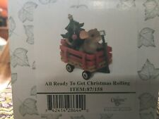 """Charming Tails """"All Ready To Get Christmas Rolling"""" 87/158; New; Factory Sealed"""