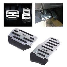 Universal Silver Non-Slip Automatic Pedal Brake Foot Treadle Cover Car Accessory