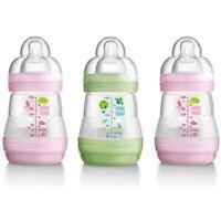 Mam Self Sterilising Anti Colic Bottles 160ml 3 Pack Girls Colours - 160ml 3
