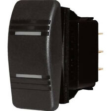 Black Illuminated DPDT 3 Position On / Off / On Contura Rocker Switch for Boats