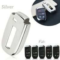 Silver TPU Remote Smart Key Cover Fob Case Shell For Dodge Charger Jeep Chrysler