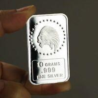 10 Grams .999 Fine Silver Bullion Bar  /  Indian   oz TSB021 - 1
