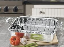 NEW Cuisinart 7117-16UR Chef's Classic Stainless Turkey Rectangular Roasting Pan