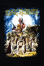 IRON MAIDEN HEAVY ROCK MUSIC Gun Somewhere Back in Time Egyptian T SHIRT TOP S