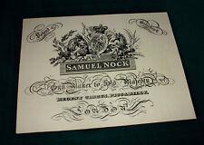 Samuel Nock Gunmaker riproduzione carta Gun Case Accessori etichetta