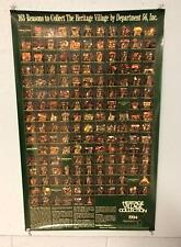 163 Reasons To Collect The Heritage Village Collection By Dept. 56 Inc. Poster