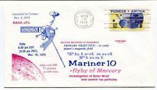 1975 Third Final Mariner 10 Flyby Mercury Solar Wind Pasadena Centaur NASA-JPL