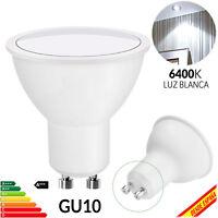 Luz Lámpara LED Blanco Foco GU10 COB Bombilla Ahorro de Energía 6W 5W 8W Bipin