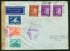 Netherlands Indies 1939 cover/five Semi-postal stamps