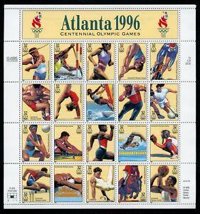 US Scott 3068 Atlanta Olympics 1996 sheet of 20 32c Mint NH Sheet