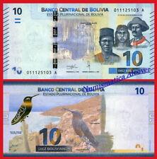 BOLIVIA 10 Bolivianos 2018  Pick New  SC / UNC