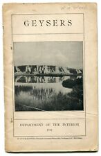 Walter Weed Geysers (Yellowstone)  First Appearance Volcanology 1912 Original