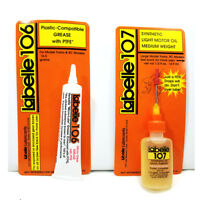 HO Athearn Recommended Lubricants  Labelle Oil/PTFE Grease Lubricants #107+106