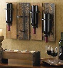 Rustic Mount Wine Wall Rack Bottle Holder Wood Bar Decorative Cabinet Decor