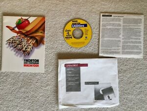 NORTON UTILITIES 3.5.1 MAC CD DISK DOCTOR FILE RECOVERY SPEED DISK COMPANION NEW