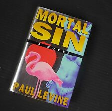 Paul Levine~ MORTAL SIN~ SIGNED~ 1ST/DJ~ NICE COPY