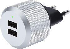Just Mobile AluPlug Adapter Ladegerät USB-Netzteil 2 USB-Ports Apple iPhone iPad