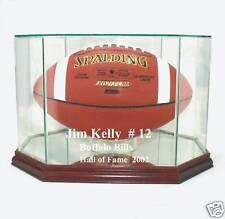 Jim Kelly Buffalo Bills F/S Football Display Case UV