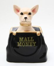 TAN CHIHUAHUA IN PURSE CERAMIC MONEY BANK MALL MONEY FOR SHOPPING COOL GIFT