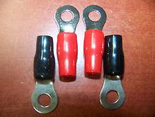 "STINGER SPT5104 PLATINUM 4 GA TO 5/16"" CRIMP RING TERMINALS 2 RED 2 BLACK 4 PACK"