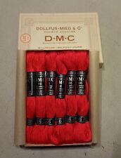 12 échevettes anciennes DMC 16 rouge n°666 à broder mercerie couture