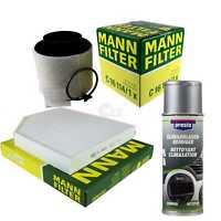 Mann - Pacchetto + Presto Klima-Reiniger per Audi Q5 8R A4 Allroad 8KH B8