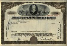 American Telephone & Telegraph Company Stock Certificate AT&T Brown