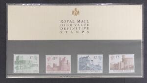 GB 1988 High Value Definitives Castles Presentation Pack No 18 - FREE UK P&P!