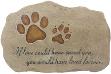 Pet Memorial Stone Marker for Dog or Cat for Outdoor Garden, Backyard, or Lawn
