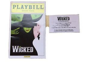 2015 Wicked Gershwin Theatre Theater Broadway Musical Playbill Program