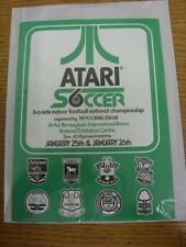 1983 Atari Soccer 6-A-Side: Four Page Advertising Leaflet for The Tournament At