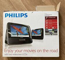"Philips Pd7012 Portable 7"" Dual-Lcd Screens Car Dvd Players Black"