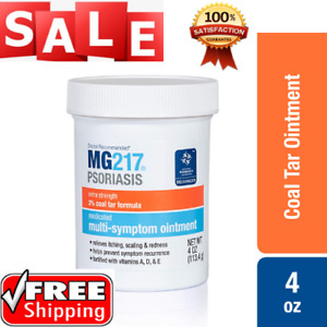 MG217 Psoriasis Treatment Cream 2% Coal Tar Multi-Symptom Relief Ointment 4 oz
